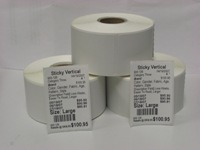 1-Across Thermal Tag- Vertical Sticky
