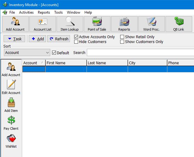 Resaleworld account screen