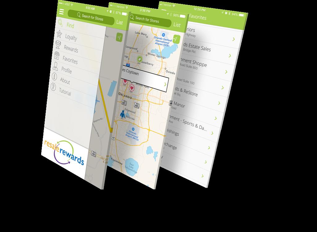 Resale Rewards Mobile App Screenshots